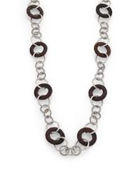John Hardy | Metallic Palu Rose Wood & Sterling Silver Link Station Sautoir Necklace | Lyst