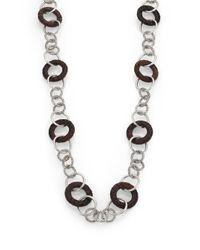 John Hardy - Metallic Palu Rose Wood & Sterling Silver Link Station Sautoir Necklace - Lyst