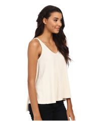 Free People - Natural Kitten Tank Top - Lyst