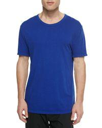 T By Alexander Wang - Blue Short-Sleeve Crew-Neck Jersey T-Shirt for Men - Lyst