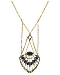 BCBGeneration | Metallic Gold-Tone Desert Flower Pendant Necklace | Lyst