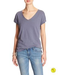 Banana Republic | Gray Factory Linen/cotton Sweater | Lyst