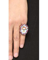 Holly Dyment | Multicolor Sunday Enamel Skull Ring | Lyst