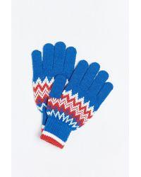 Urban Outfitters | Blue Fair Isle Touchscreen Glove for Men | Lyst