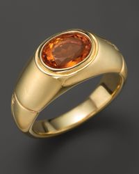 John Hardy | Metallic Batu Bamboo 18k Yellow Gold Signet Ring with Madeira Citrine | Lyst