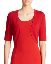 Michael Kors | Red Merino Shrug Cardigan | Lyst