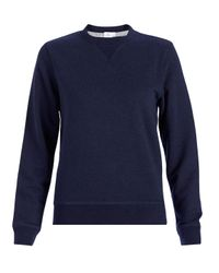 Sunspel | Blue Women's Loopback Cotton Sweatshirt | Lyst