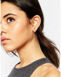 ASOS | Metallic Heart Double Earrings | Lyst