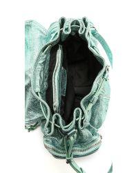 Alexander Wang - Green Marti Foiled Shrunken Backpack - Lyst