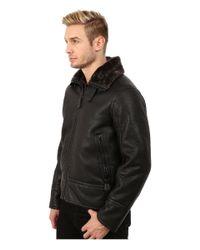 Marc New York | Black Kane Faux Shearling Aviator Jacket for Men | Lyst