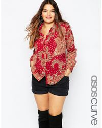 ASOS | Multicolor Curve 70's Slim Fit Shirt In Retro Daisy Print | Lyst