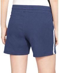Lauren by Ralph Lauren | Blue Drawstring Active Shorts | Lyst