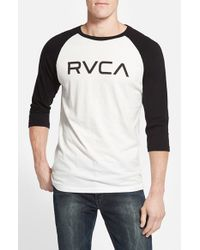 RVCA | White 'big ' Graphic Baseball T-shirt for Men | Lyst