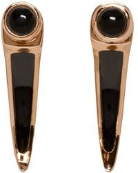 Pamela Love - Black Rose Gold And Onyx Earrings - Lyst