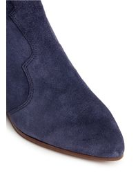 Ash - Blue 'hurrican' Suede Cowboy Ankle Boots - Lyst
