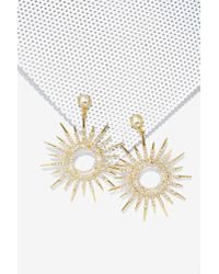 Nasty Gal | Metallic Sun Body To Love Pavã© Earrings | Lyst