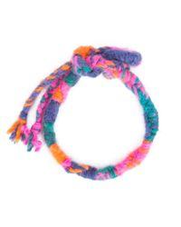 The Elder Statesman - Multicolor Double Wrap Woven Bracelet - Lyst