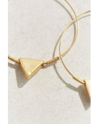 Urban Outfitters | Metallic Triangle Hoop Earring | Lyst