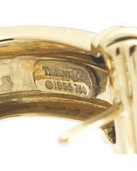 Tiffany & Co. - Metallic Pre-Owned: Atlas Earrings In 18Ky - Lyst