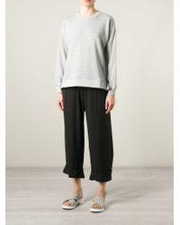 MM6 by Maison Martin Margiela - Gray Side Slit Sweater - Lyst