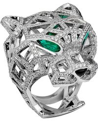 Cartier | Green Panthère 18ct White-gold | Lyst