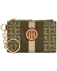 Tommy Hilfiger | Natural Lucky Charm Monogram Jacquard Coin Purse | Lyst