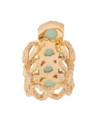 Isharya - Blue Goddess Honeycomb Ring - Lyst