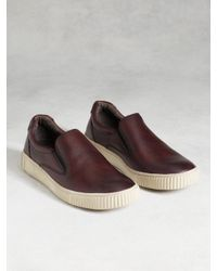 John Varvatos | Red Bedford Slip-on Sneaker for Men | Lyst