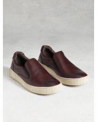 John Varvatos | Red Bedford Slip-on Sneaker for Men | Lyst