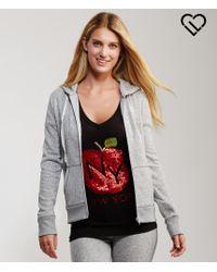 Live Love Dream | Gray Lld Coziest Sweater Fleece Full-zip Hoodie | Lyst
