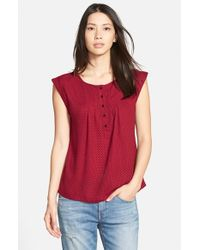 Ace Delivery | Red Print Henley Top | Lyst