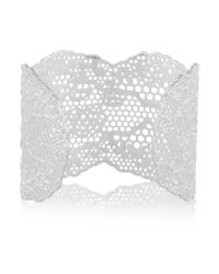 Aurelie Bidermann | Metallic Lace Silver-plated Cuff | Lyst