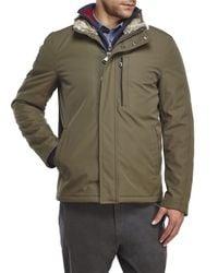 Marc New York - Green Kips Bay Faux Fur Trim Jacket for Men - Lyst