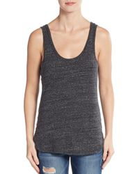 James Perse | Gray Heathered Tank | Lyst