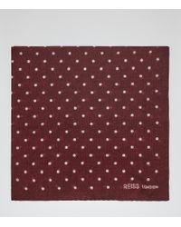 Reiss | Purple Garbo Polka Dot Pocket Square for Men | Lyst