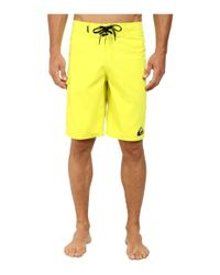 "Quiksilver - Yellow Everyday 21"" Boardshort for Men - Lyst"