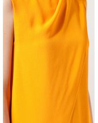 Narciso Rodriguez | Orange Wrap Dress | Lyst
