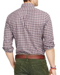 Polo Ralph Lauren | Brown Plaid Twill Shirt for Men | Lyst
