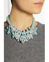 EK Thongprasert - Blue Silverplated Silicone and Cubic Zirconia Necklace - Lyst