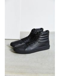 Vans | Black Sk8-hi Perforated Leather Zip Sneaker | Lyst