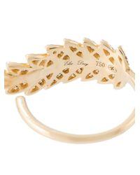Elise Dray | Metallic Embellished Leaf Ring | Lyst