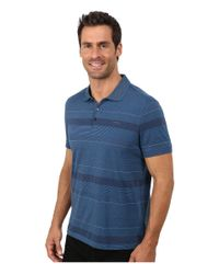Calvin Klein | Blue Refined Texture Auto Stripe Polo for Men | Lyst