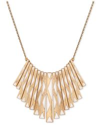 Lucky Brand - Metallic Gold-tone Paddle Necklace - Lyst