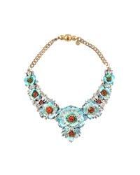 Shourouk - Blue Apolonia Flower Aqua Necklace - Lyst