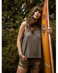 Free People | Green We The Free Womens We The Free Selena Tank | Lyst