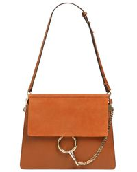 Chloé - Brown Faye Leather & Suede Shoulder Bag - Lyst