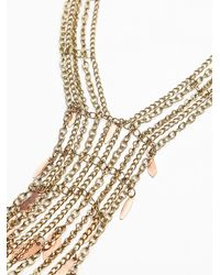 Free People - Metallic Womens Raindrops Necklace - Lyst
