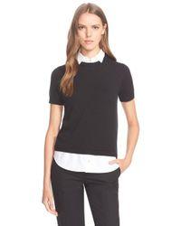 kate spade new york - Black Shirttail Sweater - Lyst