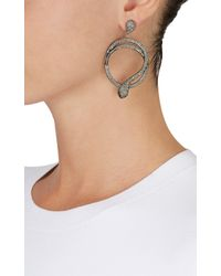Carole Shashona - Black 'harmony Snake' Diamond Earrings - Lyst