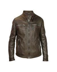 FORZIERI | Men's Dark Brown Leather Motorcycle Jacket for Men | Lyst